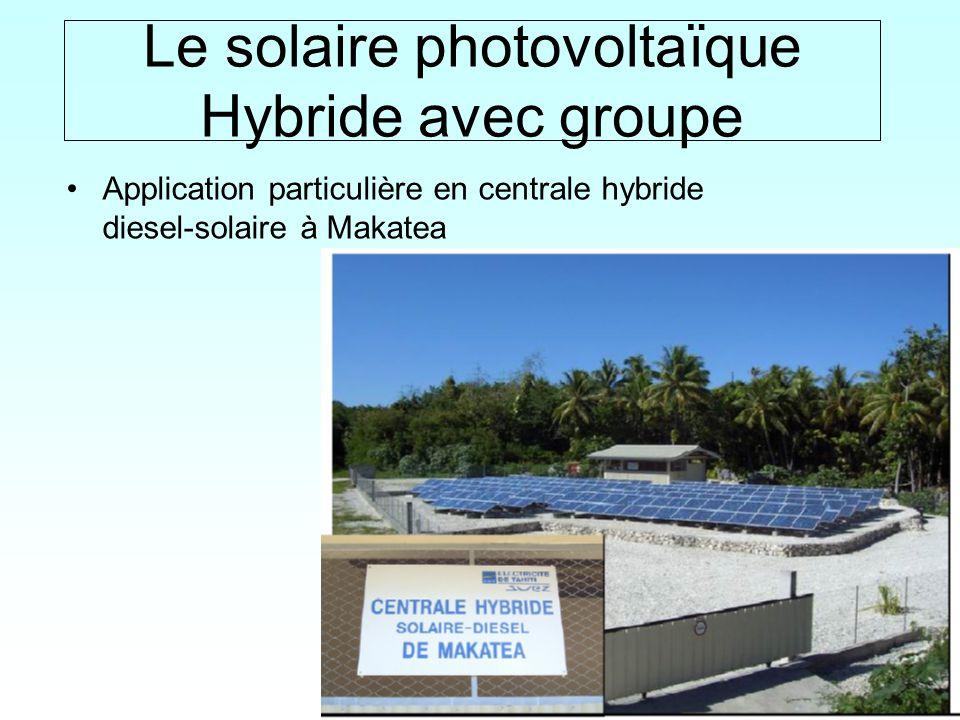 16 / Le solaire photovoltaïque Hybride avec groupe Application particulière en centrale hybride diesel-solaire à Makatea