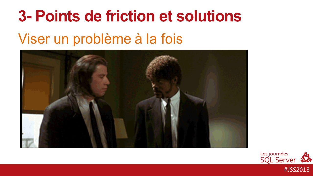 #JSS2013 Viser un problème à la fois 3- Points de friction et solutions