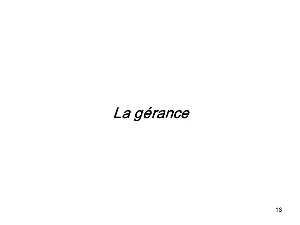 18 La gérance