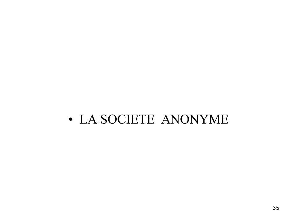 35 LA SOCIETE ANONYME
