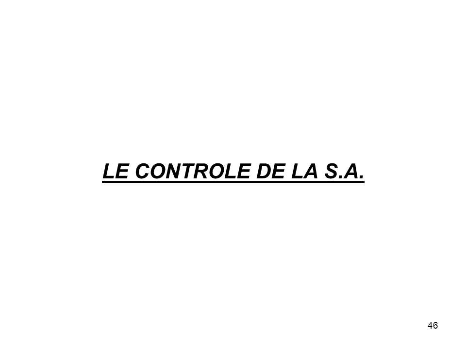 46 LE CONTROLE DE LA S.A.