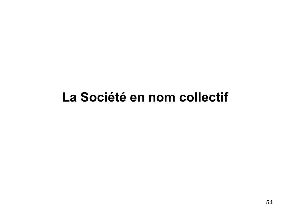 54 La Société en nom collectif