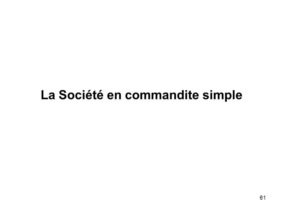 61 La Société en commandite simple