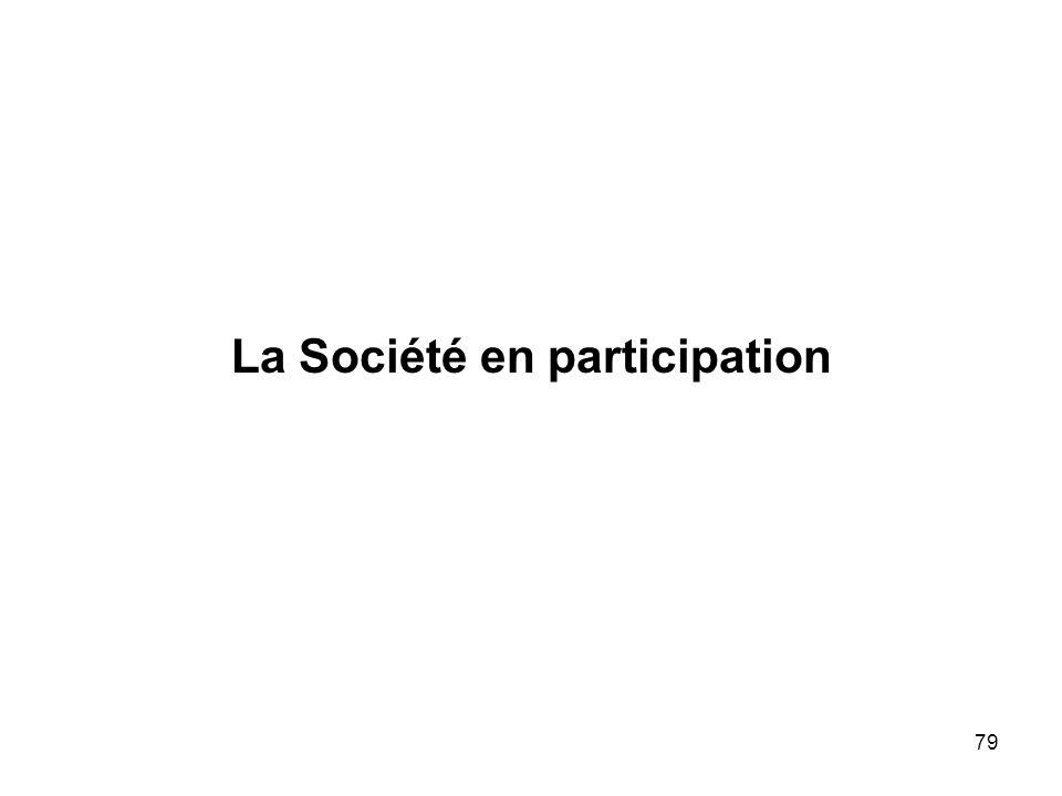 79 La Société en participation