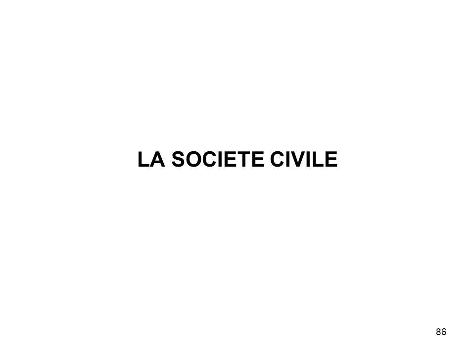 86 LA SOCIETE CIVILE