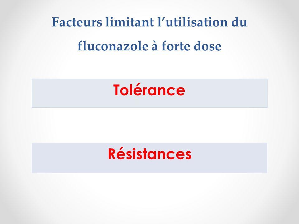 Facteurs limitant lutilisation du fluconazole à forte dose Tolérance Résistances