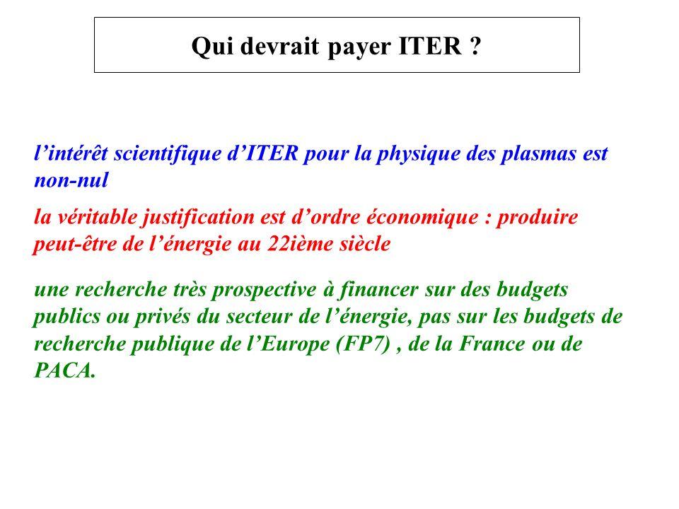 Qui devrait payer ITER .