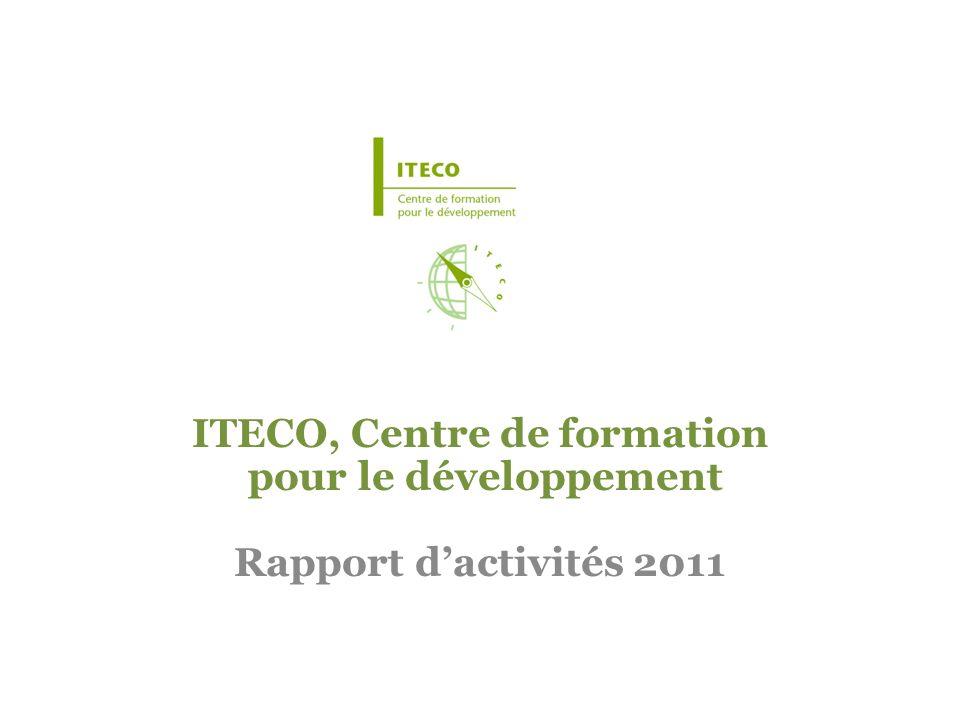 ITECO, Centre de formation pour le développement Rapport dactivités 2011