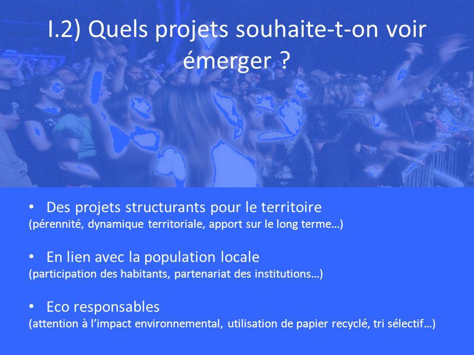 I.2) Quels projets souhaite-t-on voir émerger .
