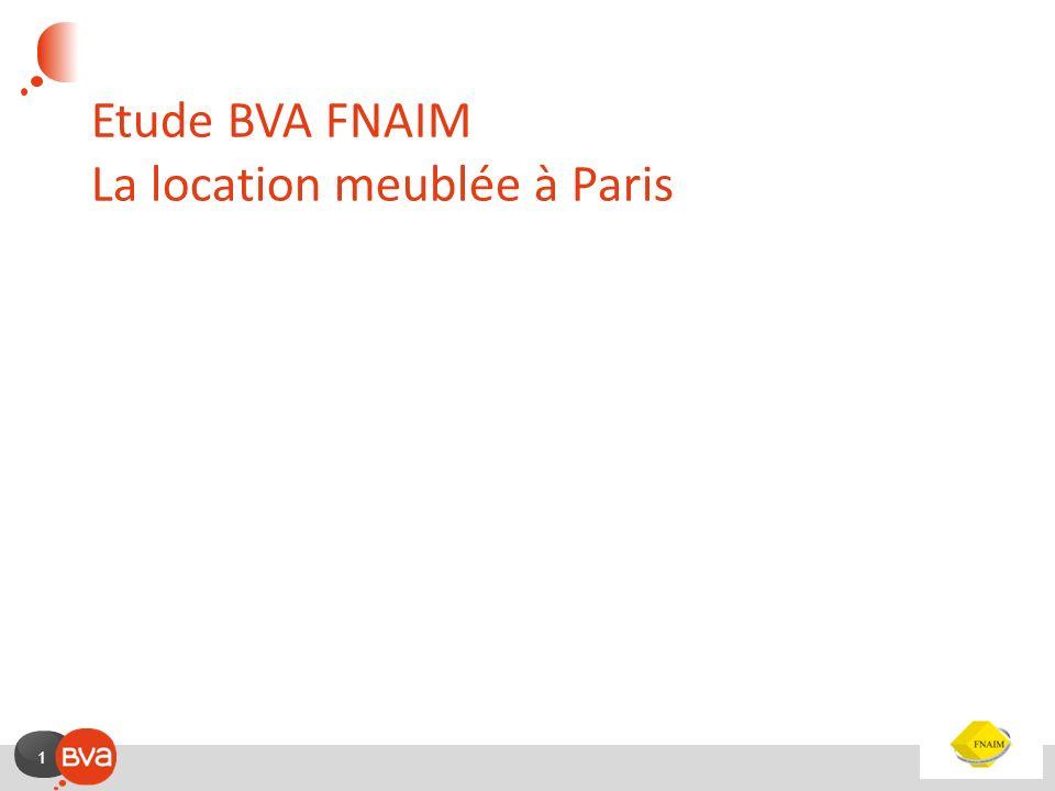 1 Etude BVA FNAIM La location meublée à Paris