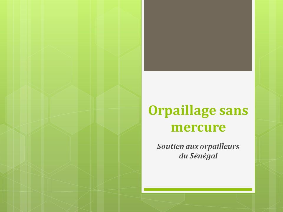 Orpaillage sans mercure Soutien aux orpailleurs du Sénégal