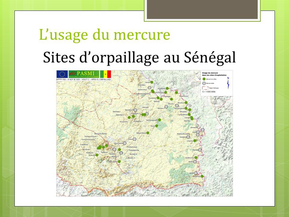 Sites dorpaillage au Sénégal Lusage du mercure