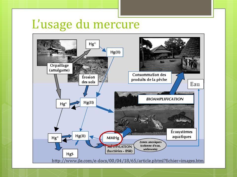 Lusage du mercure http://www.jle.com/e-docs/00/04/18/65/article.phtml?fichier=images.htm Eau