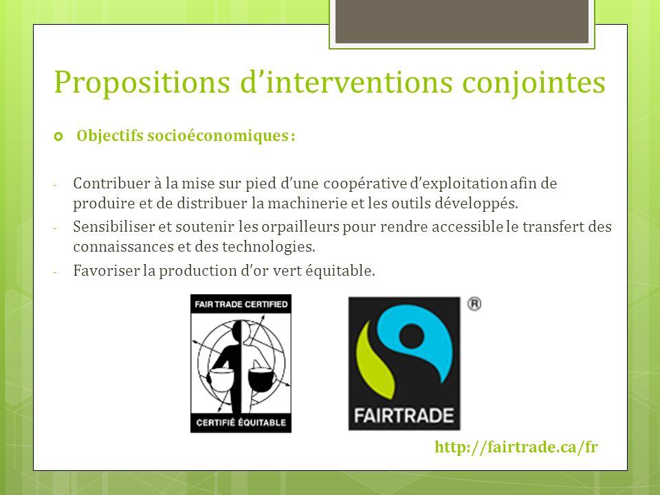 Objectifs socioéconomiques : - Contribuer à la mise sur pied dune coopérative dexploitation afin de produire et de distribuer la machinerie et les out