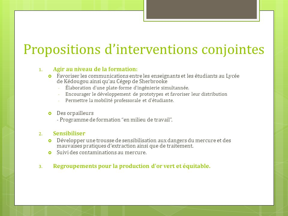 Propositions dinterventions conjointes 1.