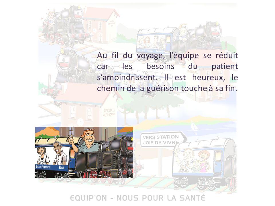 Et voici le dernier wagon, « wagon de la santé », dépourvu de soignants et composé uniquement de membres de la famille.