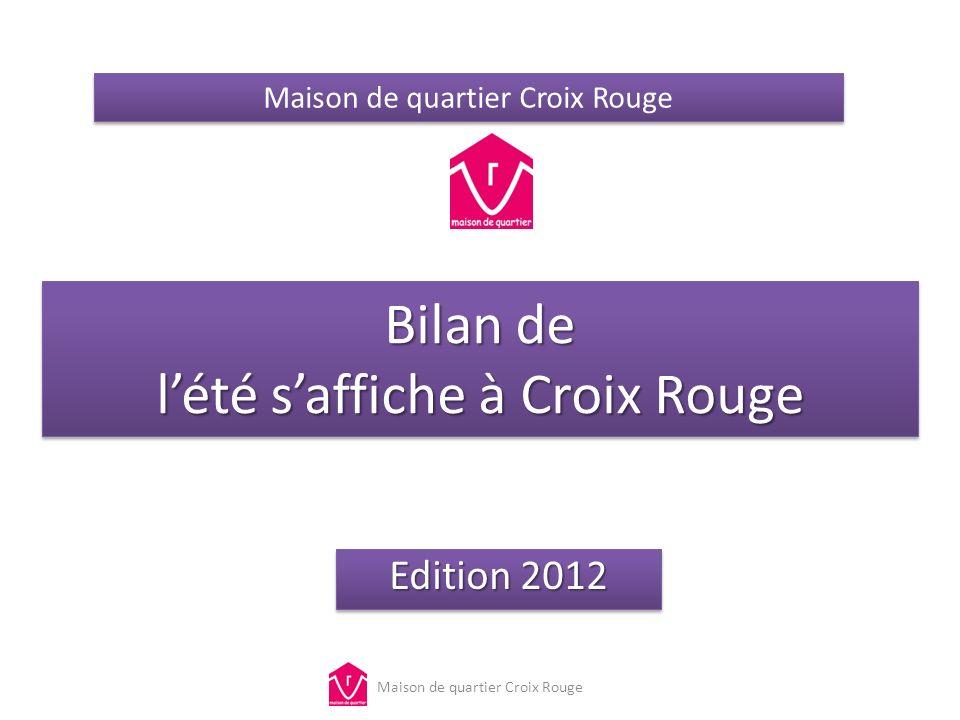 Bilan de lété saffiche à Croix Rouge Edition 2012 Maison de quartier Croix Rouge
