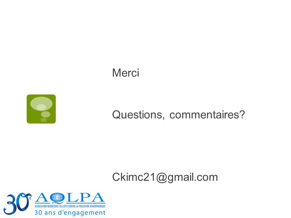 Merci Questions, commentaires