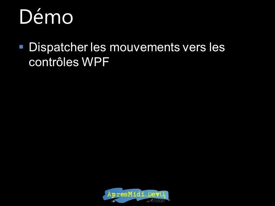 Démo Dispatcher les mouvements vers les contrôles WPF