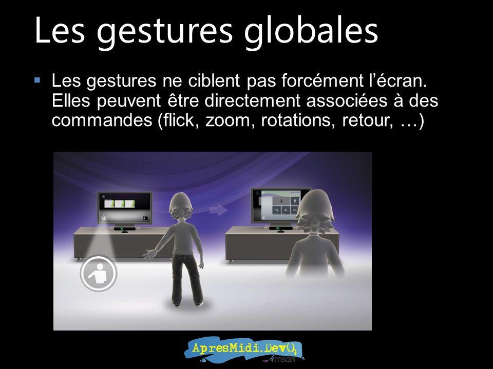 Les gestures globales Les gestures ne ciblent pas forcément lécran.