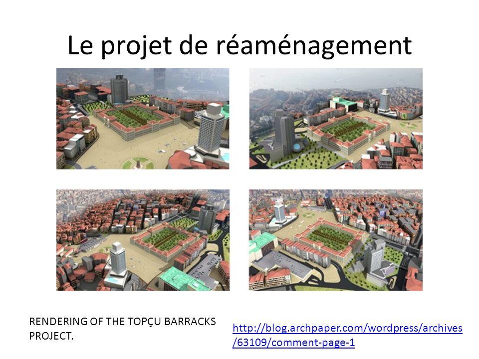 Le projet de réaménagement RENDERING OF THE TOPÇU BARRACKS PROJECT.