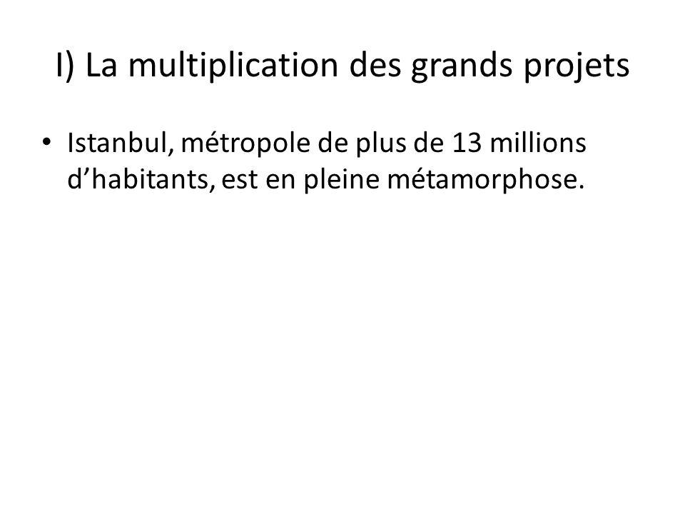 I) La multiplication des grands projets Istanbul, métropole de plus de 13 millions dhabitants, est en pleine métamorphose.
