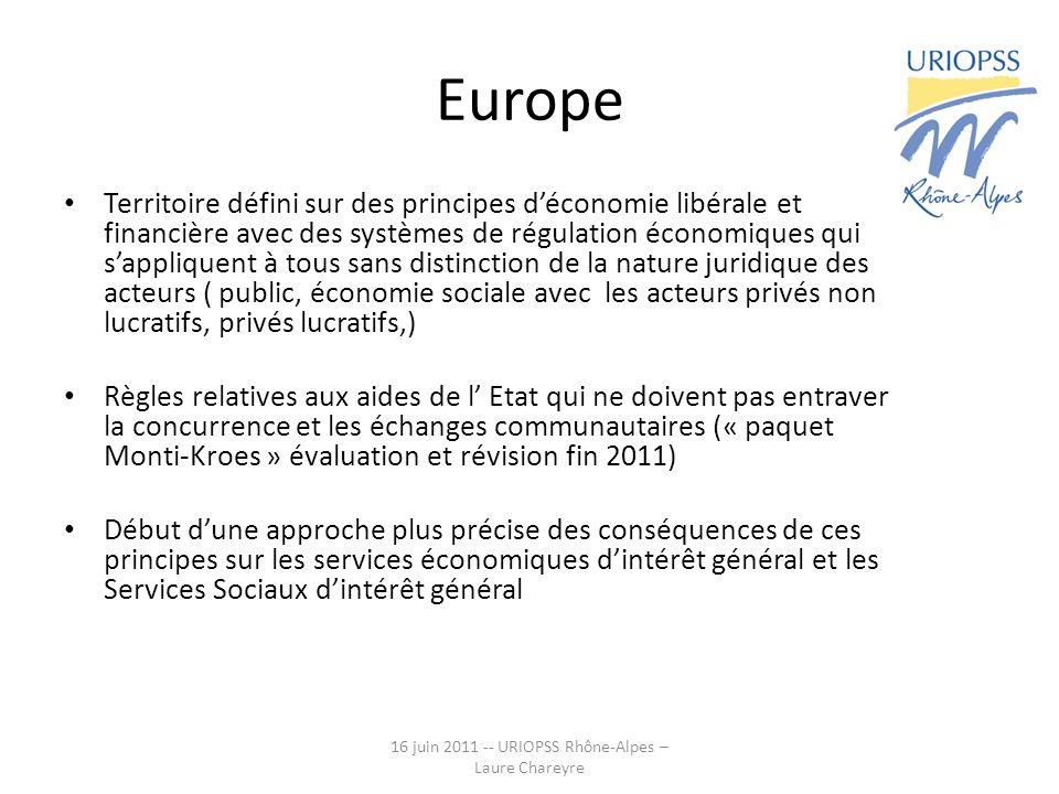 Europe Territoire défini sur des principes déconomie libérale et financière avec des systèmes de régulation économiques qui sappliquent à tous sans di