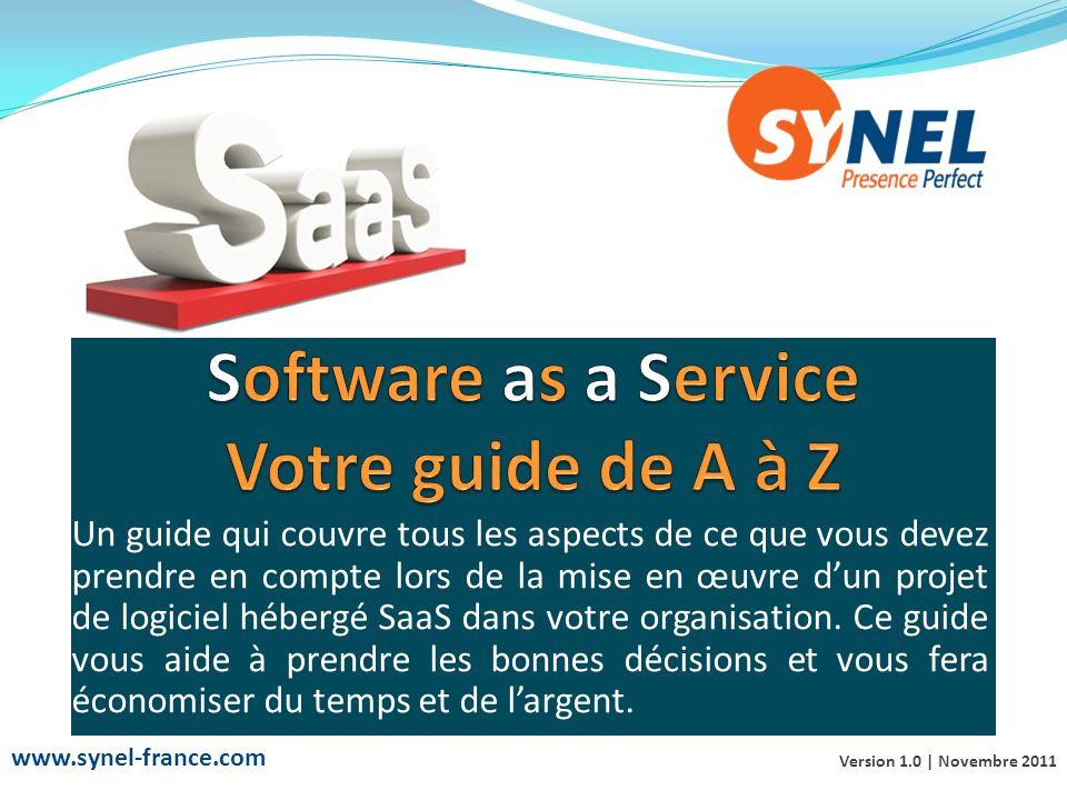 Definition de la notion SaaS: Le Software as a Service (SaaS) est une technologie consistant à fournir des services ou des logiciels informatiques par le biais du Web et non plus dans le cadre d une application traditionnelle.