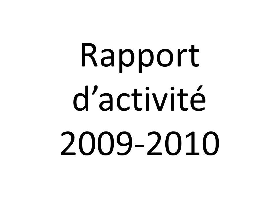 Rapport dactivité 2009-2010