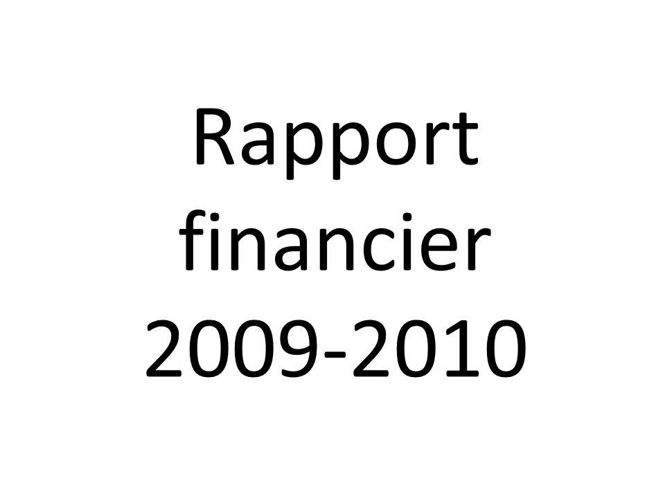 Rapport financier 2009-2010