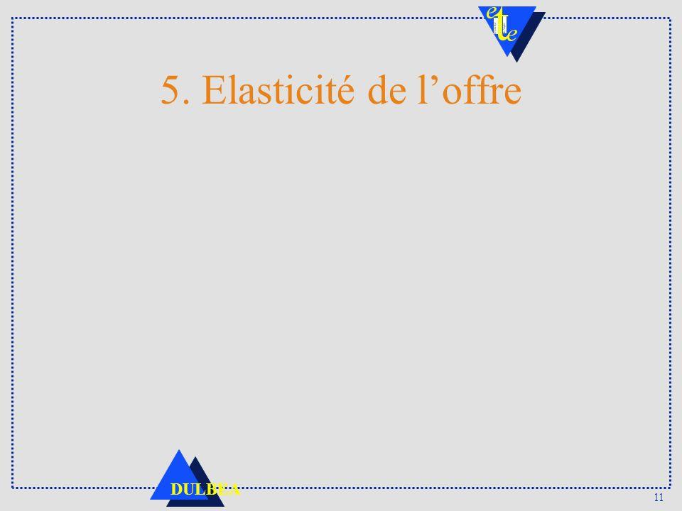 11 DULBEA 5. Elasticité de loffre