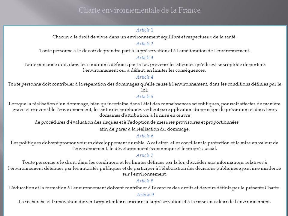 Ouest France 26/10/04 La non prise en compte de lenvironnement à un coût : ici, 3,4 millions deuros de travaux sont mis en œuvre pour limiter la concentration de nitrates et de pesticides dans leau… et pour faire de nouveaux forages plus sûrs…