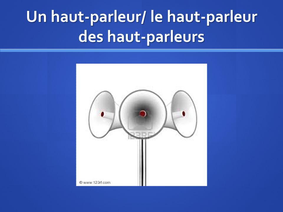 Un haut-parleur/ le haut-parleur des haut-parleurs