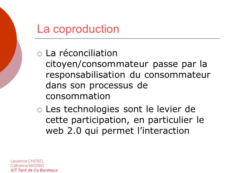 Laurence CHEREL Catherine MADRID IUT Tech de Co Bordeaux La coproduction La réconciliation citoyen/consommateur passe par la responsabilisation du con