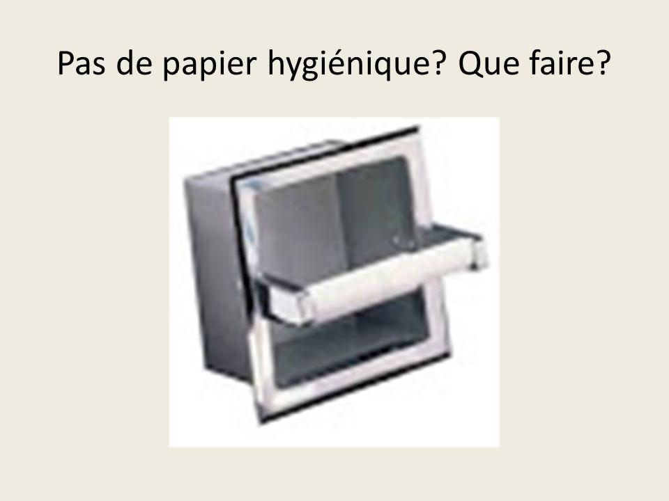 Pas de papier hygiénique? Que faire?