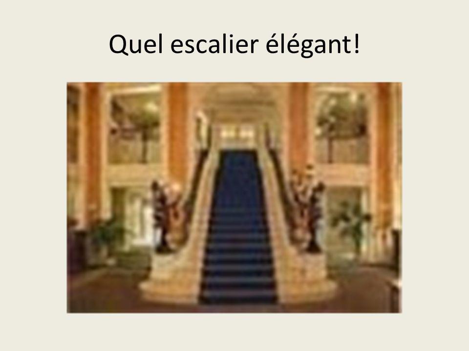 Quel escalier élégant!