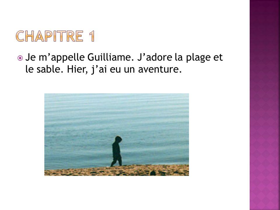 Je mappelle Guilliame. Jadore la plage et le sable. Hier, jai eu un aventure.