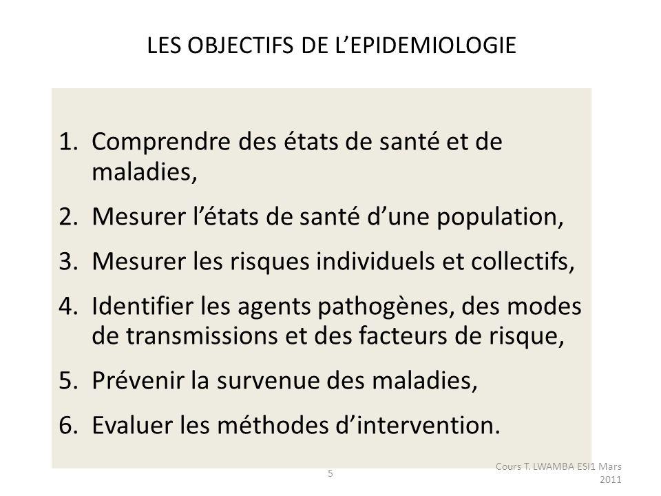 Surveillance épidémiologique Critères de qualité dun système de surveillance - Simplicité - Souplesse - Acceptabilité - Validité : sensibilité, spécificité, valeur prédictive positive - Représentativité - Réactivité