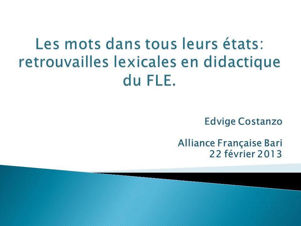 Edvige Costanzo Alliance Française Bari 22 février 2013
