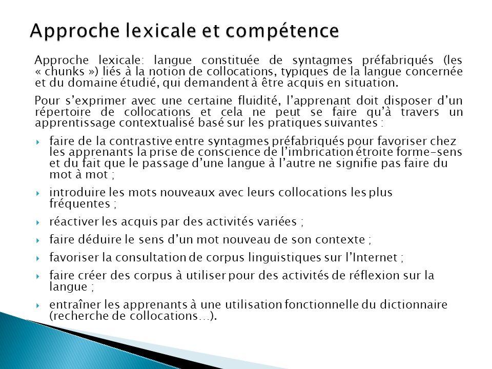 « Compétence lexicale.