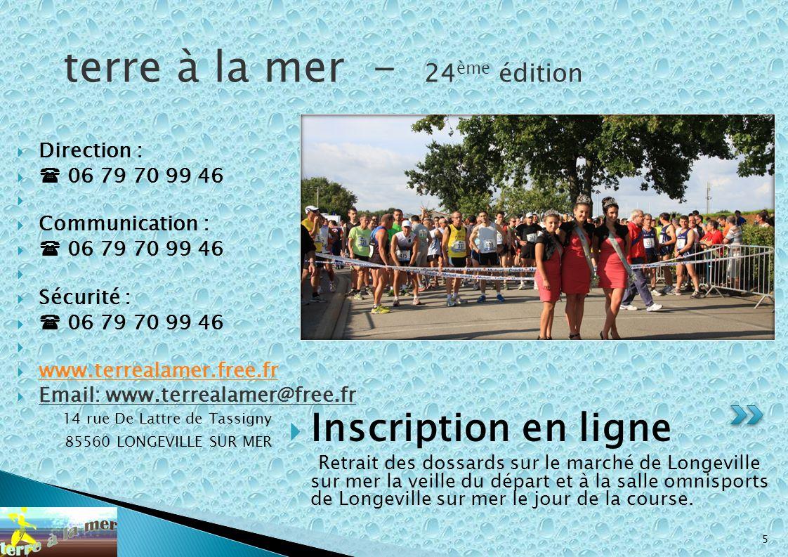 14 rue De Lattre de Tassigny 85560 LONGEVILLE SUR MER 5 Inscription en ligne Retrait des dossards sur le marché de Longeville sur mer la veille du dép
