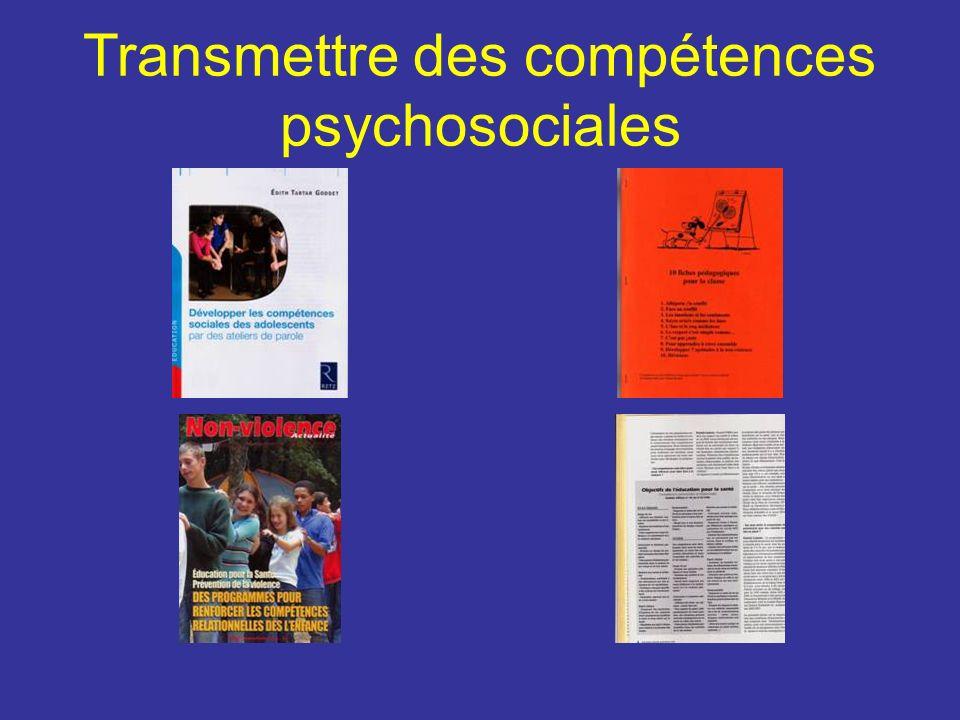 Transmettre des compétences psychosociales