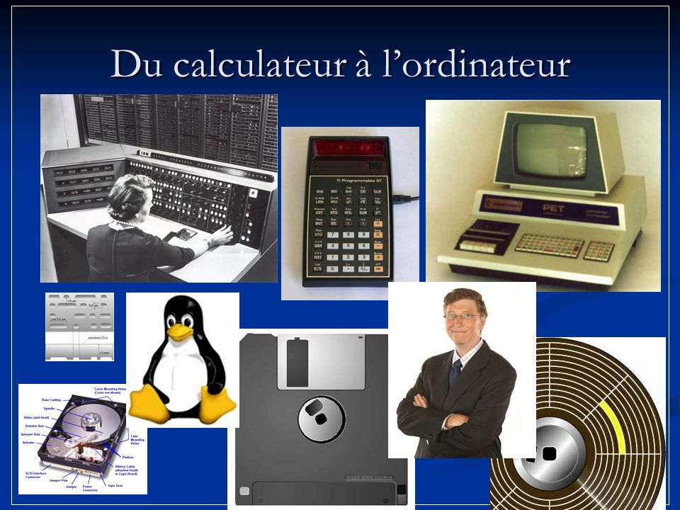 Du calculateur à lordinateur