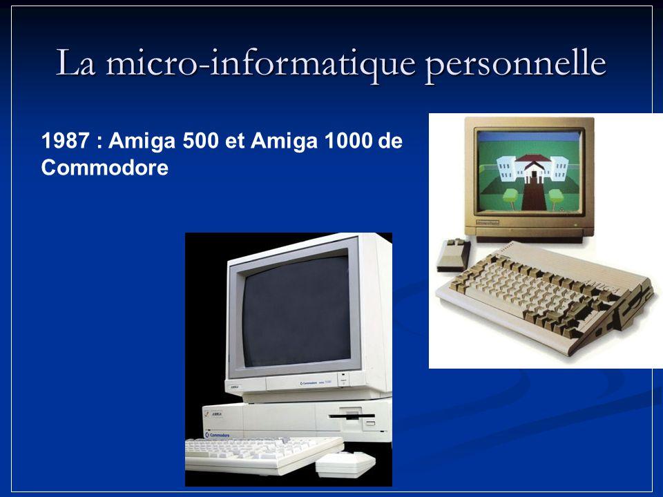 1987 : Amiga 500 et Amiga 1000 de Commodore La micro-informatique personnelle