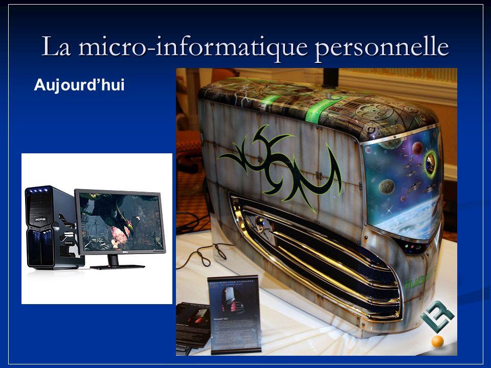 Aujourdhui La micro-informatique personnelle