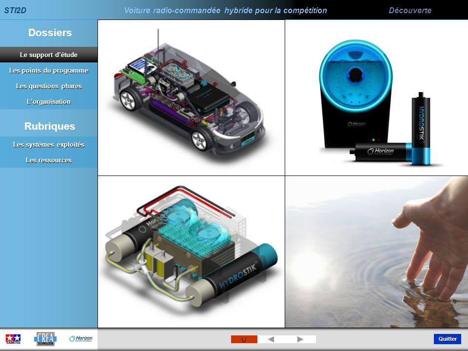 STI2D Voiture radio-commandée hybride pour la compétition Découverte Quitter Les points du programme Les points du programme Dossiers Les questions ph