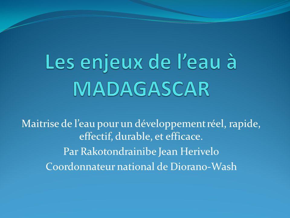 Plan de la présentation 1.Leau dans la vie sociale: eau et culture malgache 2.