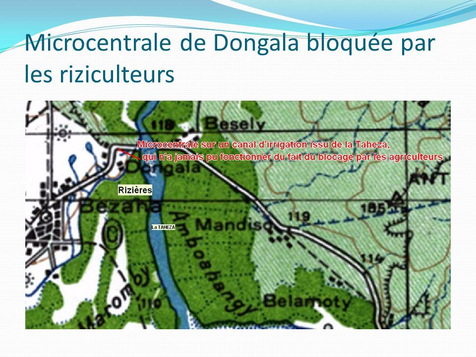 Microcentrale de Dongala bloquée par les riziculteurs