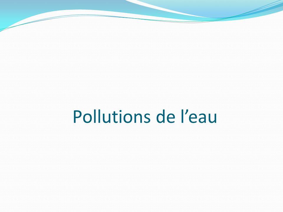 Pollutions de leau