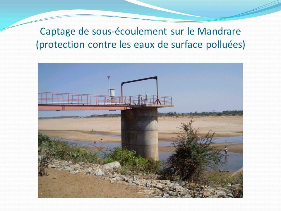 Captage de sous-écoulement sur le Mandrare (protection contre les eaux de surface polluées)